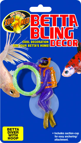 Betta Bling™ Decor - Diver w/ Hoop BD-22