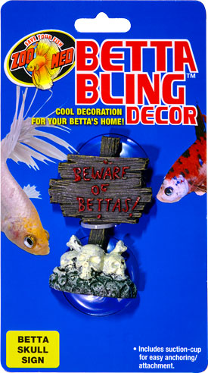 Betta Bling™ Decor - Skull Sign BD-29