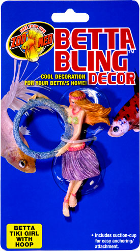 Betta Bling™ Decor - Tiki Girl w/ Loop BD-31