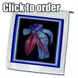 Siamese fighting fish garden flag drawing