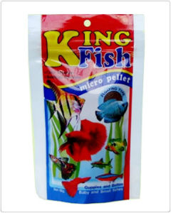 King Fish Micro Pellets Floating Type Fish Food for Betta Fishes from Thailand